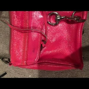 Pink used signed Rebecca Minkoff crossbody bag